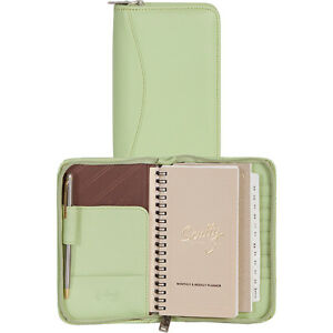 Scully Zip Pocket Planner Mint Business Accessorie New