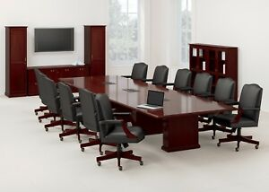 Waveworks Conference Table 16ft Solid Wood