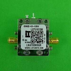 Broadband Ultra Low Noise Amplifier With Ldo 0 4db Nf 0 7 6ghz 20db Gain Sma