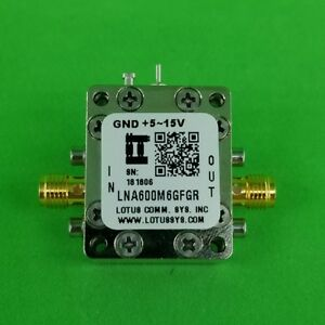 Broadband Low Noise Amplifier With Ldo 0 9db Nf 600m 6ghz 21db Flat Gain Sma