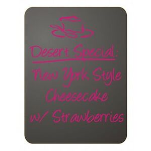 6 Pack Frameless 12 x 16 Charcoal Chalkboard Menu Boards Sign Made In Usa 6
