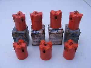 7 New Brunner Lay Rock Drilling Carbide Bits 1 3 8 Inch 4 Point H Thread