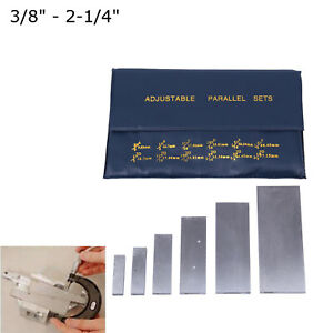 6pcs 3 8 2 1 4 Adjustable Parallels Set Layout Inspection Measurement Tool