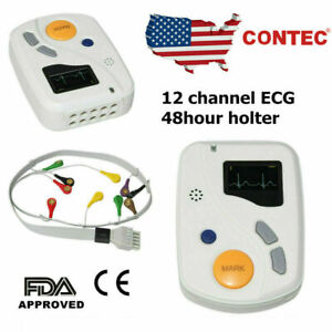Contec Tlc6000 Holter Ecg 12 Channel 48 Hours Recorder Monitor Sync Pc Software