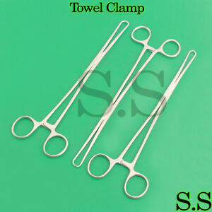 3 Towel Clamp 10 Surgical veterinary Instruments