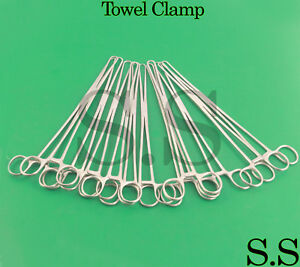 12 Towel Clamp 10 Surgical veterinary Instruments