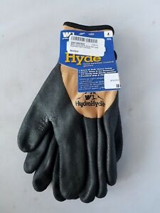 Nwt Wells Lamont Hydra Hyde Cold Weather Coated Gloves Water Resistant Fleece L