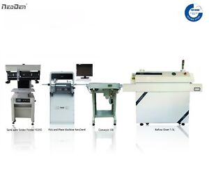 Smt Line Desktop Pick And Place Machine Neoden4 printer reflow Oven pcb Conveyor