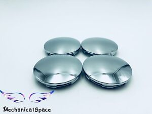 4pcs 68mm Chrome Wheel Hubs Center Hub Cap Universal Wheel Rim Hub Cover Caps