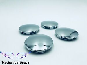 4pcs 68mm Universal Chrome Silver Car Truck Wheel Center Hub Cover Caps Us Sell