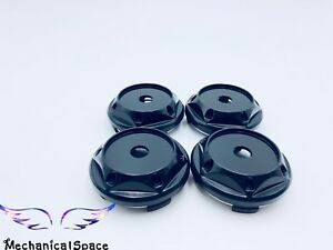 4pcs 68mm Black Wheel Hubs Center Hub Cap Universal Wheel Rim Hub Cover Caps