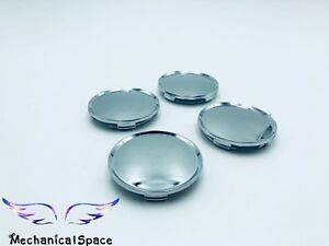 4pcs 63mm Chrome Wheel Hubs Center Hub Cap Universal Wheel Rim Hub Cover Caps