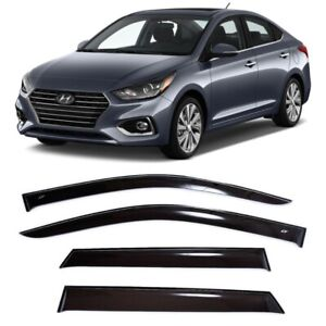 For Hyundai Solaris Sd 2017 2018 Window Side Visors Rain Guard Vent Deflectors