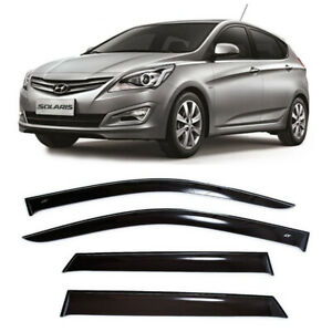 For Hyundai Solaris Hb 2011 2016 Window Visors Side Rain Guard Vent Deflectors