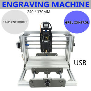Mini Diy Cnc Mill Router Kit Usb Desktop Metal Engraver Pcb Milling Machine Hot
