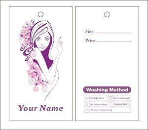 Custom Print 1000pcs Hang Tags Price Label Lady Dress Hang Tags