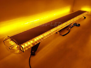 63 Led Strobe Light Bar Emergency Beacon Response Warn Wrecker Tow Truck Amber