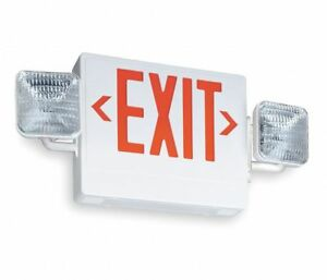 Lithonia Lighting Ecr Led M6 Contractor Select Thermoplastic Emergency Exit Sign