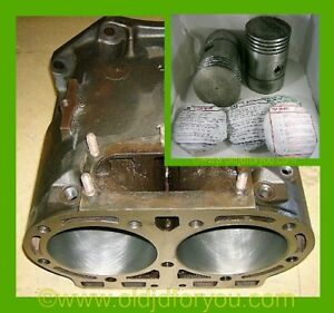 D1716r D2822r John Deere D Cylinder Block With Matching Pistons And Rings