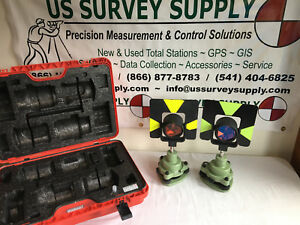 Leica Genuine Traverse Kit Complete 2 Prism Set W Case For Surveying Wnty
