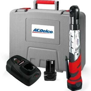 Acdelco Cordless 12v 3 8 Ratchet Wrench Tool Set With 2 Lithium ion