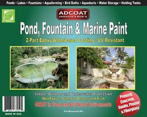 Pond Fountain Marine Paint 2 part Acrylic Epoxy Interior Exterior 1