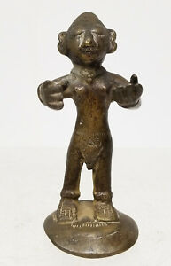 Antique Indian Style Lost Wax Cast Bronze Figure Statue Hindu African Tribal