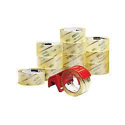 Scotch r Commercial Grade Packing Tape In Dispenser 1 7 8in X 54 6 Yd Pack