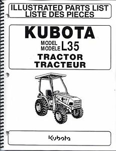 Kubota L35 tl720 bt900 Tractor loader backhoe illustrated Parts Manuals 3pc Set