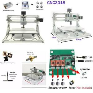 New Diy Cnc Milling Machine Router Engraving Kit Working Area 30x18x4 5cm No Tax