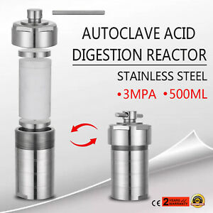 Autoclave Hydrothermal Synthesis Reactor Kettle Vessel 500 Ml
