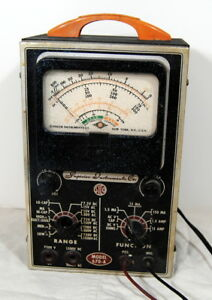 Ohms Meter Superior Instruments Co 670 a Vintage Tube Type Tested Well Worn