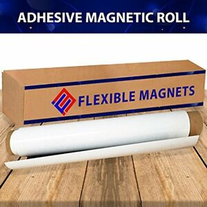 New Flexible Adhesive Sheets Magnet With Adhesive 30mil Thick Ideal For Diy At