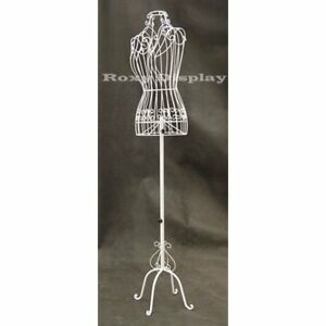 New Female Dress Forms Mannequins Metal Wire Designers White Adjustable Height