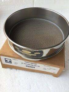 W s Tyler Test Sieve 18 1mm 16mesh Ts 1 diameter 8 height 2 5 8 U s a Standa