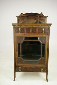 Antique Music Stand Music Cabinet Music Box Walnut Scotland 1880 B1104