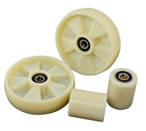 Brand New Pallet Jack Complete Wheels Set With Bearings Nylon