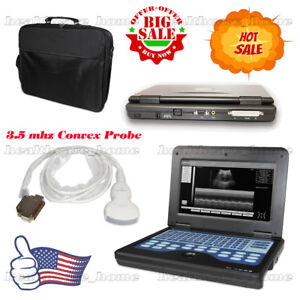 Portable Laptop Machine Digital Ultrasound Scanner 3 5 Convex Probe Us Fedex