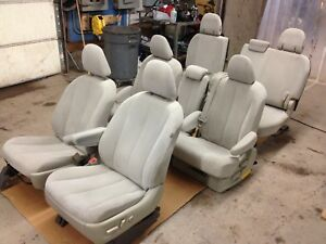 2011 2014 Toyota Sienna Tan Cloth Interior Seats Front Rear Middle Back 1 Seat