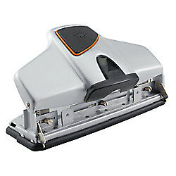 Office Depot Adjustable 3 hole Punch 32 sheet Capacity Silver 275959ca