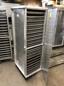 Full Size Bakery Baking Sheet Pan Rolling Cabinet With 50 Clean Sheet Pans