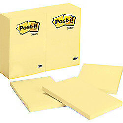 Post It r Notes 4in X 6in Canary Yellow Pack Of 12 Pads