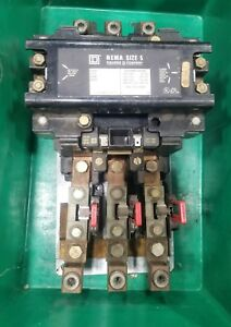 Square D Size 5 200 Hp 8536 Sg01 Starter Contactor 3839sr