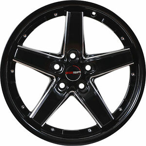4 Gwg Wheels 17 Inch Black Mill Drift Rims Fits Ford Crown Victoria 2003 2011