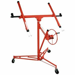 Drywall Panel Hoist Wall Jack Rolling Caster Lifter Construction Tool