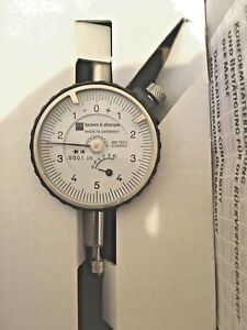Brown Sharpe 14 83004 Dial Indicator 0001 05 Travel 0 5 0 Dial 60 Off