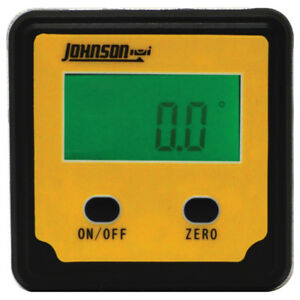 Johnson Level Magnetic Digital Angle Locator Plastic Orange Compact Automatic