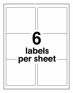 Amazon Fba Shipping Stickers 6 Labels Per Sheet 4 x3 33 Per Label Page 6up