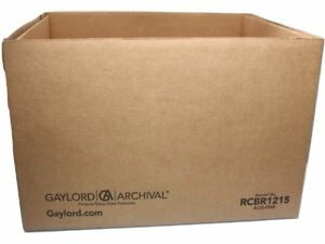 Gaylord Archival Record Storage Box W Handholds Bundle Lot Of 20 15 X 12