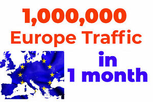 1 000 000 Real Europe Web Traffic For Your Website 1 Million Views 1 Month Seo